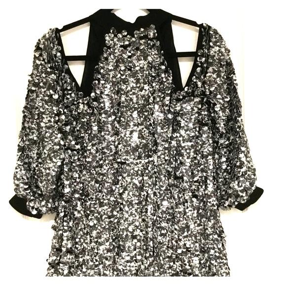 390e14aff7f926 NWT Asos open shoulder sequin top